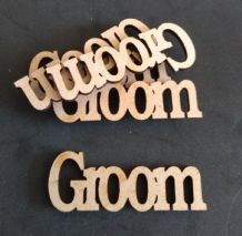 wooden craft GROOM  shapes, laser cut 3mm mdf embellishments
